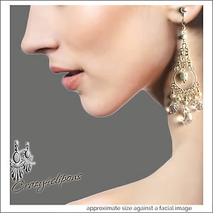 For Brides: Dazzling Crystals & Pearl Earrings | Your choice:  Pierced or Clips