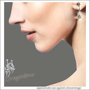 Bridal Basic Teardrops: Crystal Hand wrapped Earrings | Your choice:  Pierced or Clips