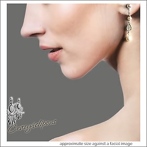 Dainty Filigree & Pearl Earrings | Your choice:  Pierced or Clips