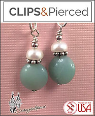 Kids - Pierced & Clip Earrings: Amazonite
