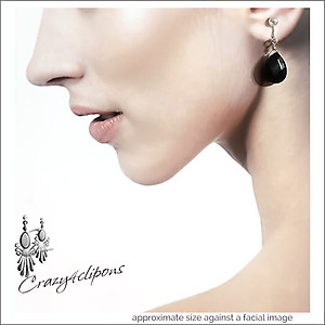 Classic Black Onyx Earrings | Your choice:  Pierced or Clip on