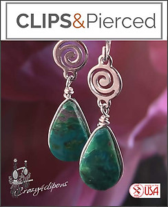 Ethnic,  Small Earrings | Your choice:  Pierced or Clip on