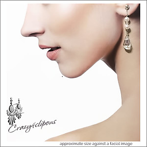 Brides/Weddings Dangling Crystal Earrings | Your choice:  Pierced or Clip on