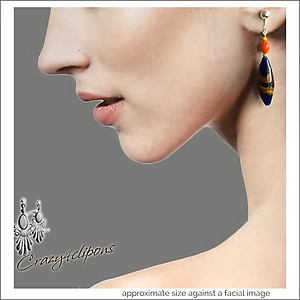 Earrings w/ Japanese Vintage Beads | Your choice:  Pierced or Clip on