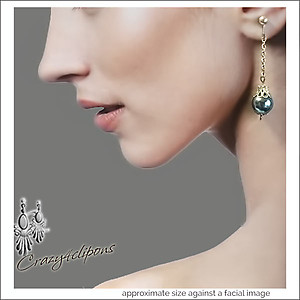 Dangling  Christmas Ornament Earrings | Your choice:  Pierced or Clip on
