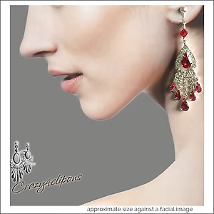 Prom Night. Dangling Rhinestone Earrings | Your choice:  Pierced or Clips