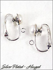 Fresh Water Pearl Hinged Clip On Earring Parts