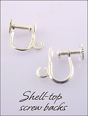 Silver/Gold Plated  Shell Clip Earring Parts