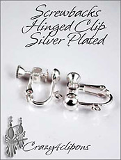 Silver/gold Plated Clip Findings (3 prs)