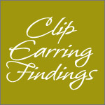 Buy clip-on earring findings parts and components