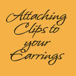 How to Make clip on Earrings
