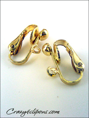 Clip Earrings Findings: Gold/Silver 4mm Hinged Parts