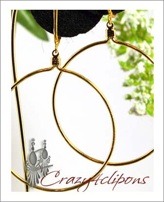 gold hoops with name. Name: Every Day Casual Hoops