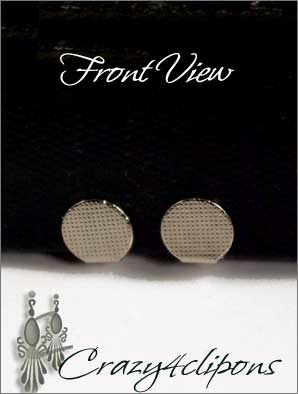 Clip Earrings Findings: 9mm Front Pad Paddle Back Parts