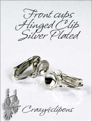 Clip Earrings Findings: Front Cup Hinged Parts