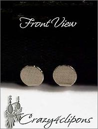 9mm Front Pad Paddle Back Clip Earrings Parts