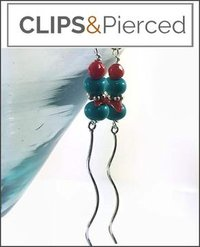 Turquoise & Coral Stiletto Earrings
