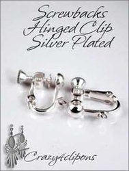 Clip Earrings Findings: Top Seller~ Plated Parts w/ Screw Backs