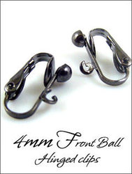 Clip Earrings: Gunmetal 4mm Hinged Findings