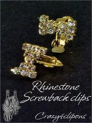Rhinestone Screw Findings For Gold Clip Earrings