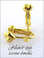 Clip Earrings: Top Heart Findings With Screw Backs