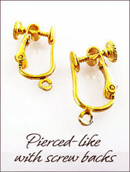 Clip Earrings: Pierced-like Findings With Screw Backs