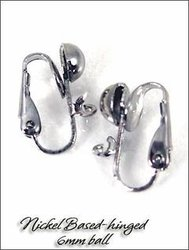 Clip Earrings: Hinged Backs