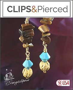 Dangling Ethnic & Eclectic Earrings  | Your choice:  Pierced or Clips