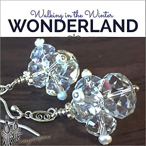 Clustered Crystal Earrings | Your choice:  Pierced or Clips
