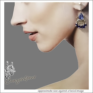 Ethnic Mini  Chandeliers Earrings | Your choice:  Pierced or Clip on