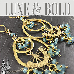 Dazzling Vermeil and Apatite Dangling Earrings
