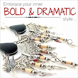 Bold, Ethnic & Dramatic Chandelier Earrings | Your choice:  Pierced or Clips