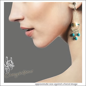 Pearls & Silver Filigree Chandelier Earrings | Your choice: Pierced or Clips