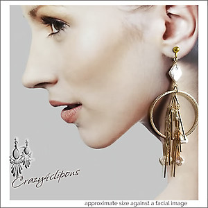 Statement Large Hoops Earrings