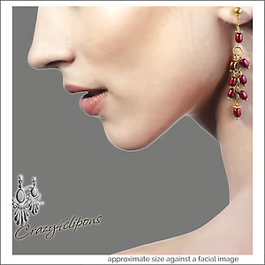 Dangling Jumping Beans Pearl Earrings | Your choice:  Pierced or Clips