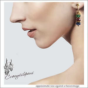 Gems of Autumn Earrings | Your choice:  Pierced or Clips