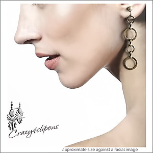 Brass Touch.  Mini Hoop Earrings | Your choice:  Pierced or Clips