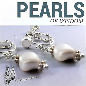 Small Swarovski Pearl Earrings | Your choice: Pierced or Clips