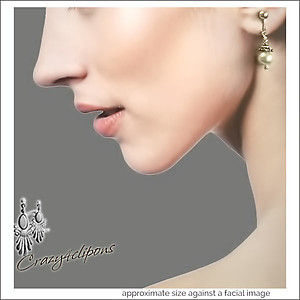 Dainty Petite Fresh Water Pearl Earrings | Your choice:  Pierced or Clip on