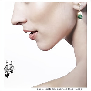 Dainty Pearl W/ Amazonite Earrings | Your choice:  Pierced or Clips