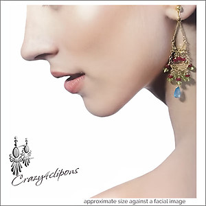 Vermeil Gold, Rubies & Topaz Earrings | Your choice: Pierced or Clips