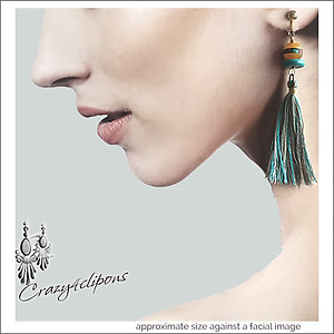 Long Light tassel earrings