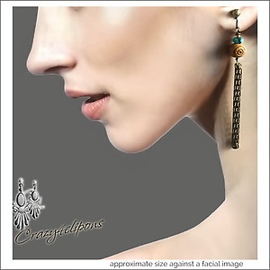 Eclectic & Bohemian Linear Earrings | Your choice: Pierced or Clips