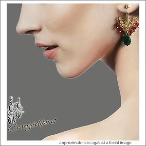 Holidays, Christmas Festivity Earrings Pierced & Clip Earrings