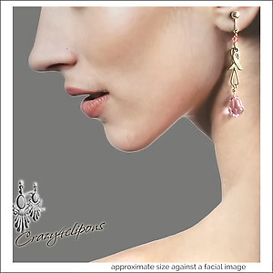 ThinkPink Breast Cancer Awareness Earrings | Your choice:  Pierced or Clips