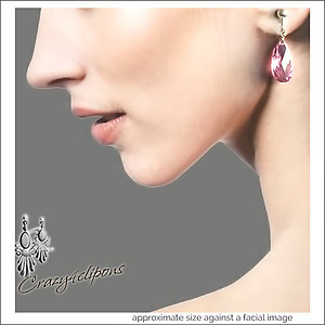 Dazzling Zirconia Teardrop Earrings | Your choice:  Pierced or Clips