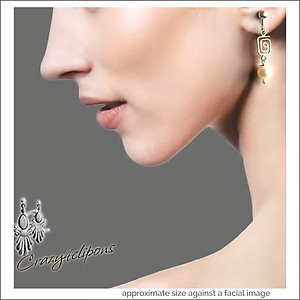 Sophisticated Fresh Water Pearls & Silver Earrings | Your choice: Pierced or Clips