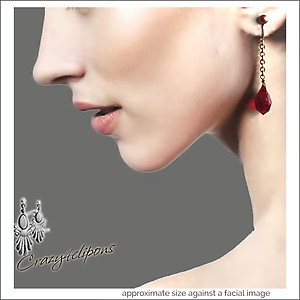 Vampire Diaries. A Drop of Blood Earrings | Your choice: Pierced or Clips