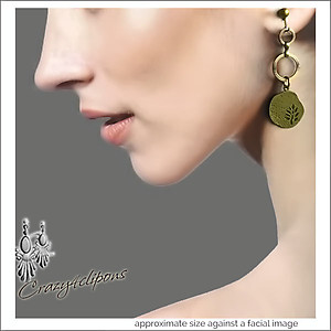 Autumn Antique Brass Etched Earrings | Your choice:  Pierced or Clips