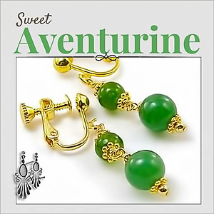 Green Jade Dangling Earrings | Your choice: Pierced or Clips